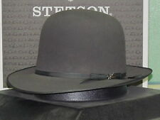 STETSON PREMIER STRATOLINER OPEN CROWN SOFT FUR FELT FEDORA HAT