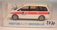 Rietze 1/87 50757 VW Volkswagen Sharan Bus Polizei Solothurn Schweiz OVP #2470