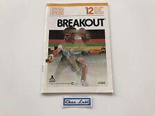 Notice - Breakout - Atari 2600 - PAL EUR