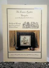 The Goode Huswife THE EASTER RABBIT SAMPLER Cross Stitch Folk Art Pattern 2002
