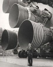 Wernher von Braun with Engines of Saturn V Rocket 10x8 NASA Photo Print