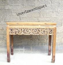 Qing Dynasty Chinese Carved Wood Altar Table