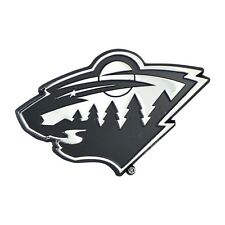 Minnesota Wild NHL Chrome Metal Car Auto Emblem Team Decal Logo Ships Fast