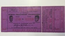 1963 Sonny Liston vs Floyd Patterson Heavyweight Championship Full Ticket