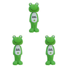 3X BRUSH BUDDIES POPPIN' LOUIE FROG SOFT TOOTHBRUSH ORAL DENTAL TEETH PROTECT