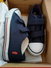 Levi's Trucker Low Kid's navy Canvas Plimsoll Shoes, size 2, BNIB
