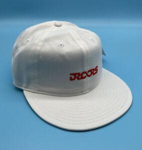 Droors Infinity Logo Hat Adjustable White Cap
