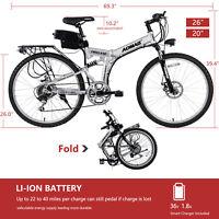 "26"" 20"" 36V 250W Aluminum Folding Electric Mountain Bike Bicycle E-Bike Battery"