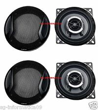 KIT COPPIA CASSE AUTO 180W 2 VIE 10CM TWEETER ALTOPARLANTI STEREO SUB WOOFER