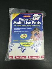"Disposable Multi-Use Pads by PeeWees ~ 12 Pack (13""x19"") ~ Great Lap/Burp Pads!"