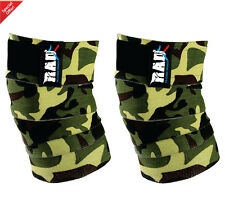 RAD 1 Pair Heavy Duty Knee Wraps For Power-lifting/Bodybuilding,Gym Camouflage G