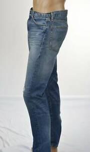Ralph Lauren Denim & Supply Slim Denim Jeans/ Leather  Flag Patch -NWT-Ret $125