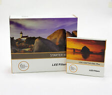 Lee Filters 100 Starter Kit + Lee 77mm Standard Adapter Ring. Brand New