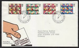 Great Britain 1979 FDC cover Europa issue Flags of members