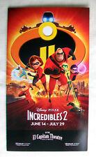 Mint EL CAPITAN THEATRE Flyer Invitation Brochure INCREDIBLS 2 Disney PIXAR