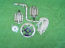 """BICYCLE CRANK SET TWISTED 5 ITEMS W/ 4"""" CRANK LOWRIDER BMX OTHERS  NEW"""