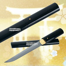 Black Shirasaya Handmade Tanto Samurai Sword Very Sharp with Bag