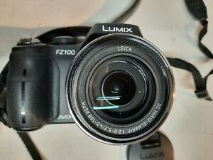 USED Panasonic Lumix DMC-FZ100 14mp Digital Camera Leica DC Lens 1:2.8