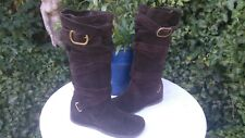 FAITH SMART SUEDE WEDGE HEEL BOOTS SIZE 5