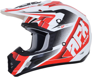 AFX FX-17 Force Helmet XL Pearl White/Red 0110-5247