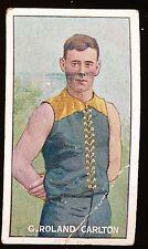1906 Sniders & Abrahams Carlton G Roland Football Cigarette card