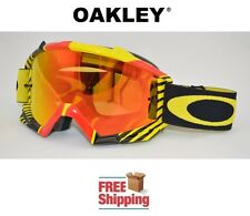 OAKLEY® PROVEN™ GOGGLES MX ATV MOTOCROSS MOTORCYCLE DIRT RED YELLOW FIRE MIRROR