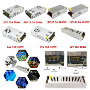 LED Strip Light Switching Power Supply Driver Adapter AC 110V-220V To DC 12V-48V