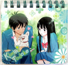 Kimi ni Todoke Mini Spiral Paper Note Pad Blue Anime NEW