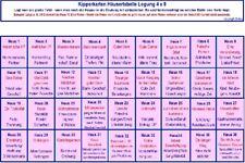 Kartenlegen Häusertabelle/Häuserlegung Kipperkarten 4 x 9 - Zukunft deuten - A4