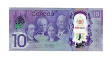 2017 Canada 150 - 10 Dollar Polymer - Prefix CDE- UNC Hard to get prefix letter