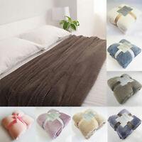 Teddy Fleece Bear Blanket Large Fluffy Throw Over Bed Plush Soft Bedspread