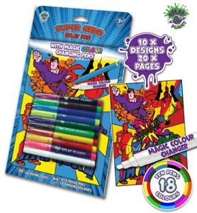 Splat Planet Superhero Magic Colouring Book With Magic Colour Changing Pens
