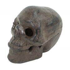 Skull Head Key Hider Box Hide a Key Halloween Pirate Decor Change Trinket Box
