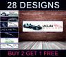 Jaguar Logo Nero Garage Officina PVC Adesivo Poster Show Camera da Letto Auto