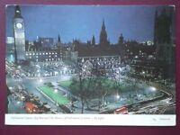 POSTCARD LONDON PARLIAMENT SQUARE BIG BEN & HOUSES OF PARLIAMENT AT NIGHT