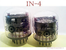 IN-4 NIXIE tubes ( for nixie clock ) new & tested Lot 4pcs +INS-1 2PCS