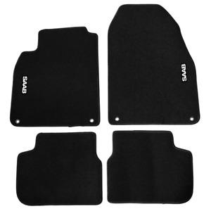 Nylon Carpet Black Coverking Custom Fit Front and Rear Floor Mats for Select Saab 9-3 Models CFMBX1SB9231