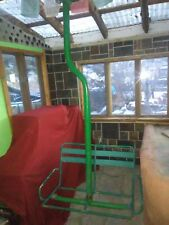 ANTIQUE VINTAGE SKI LIFT CHAIR  FROM RED RIVER NEW MEXICO THE GREEN CHAIR LIFT