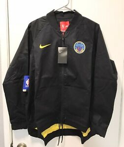 Nike Golden State Warriors The Bay Jacket NBA Black Womens Size Large 899079-010