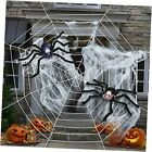 Halloween Decorations, Upgraded Version 12 FT Giant Spider Web and 2 black