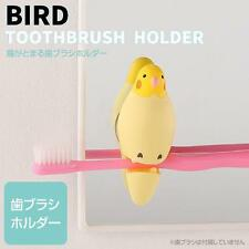 Bird Shaped Cute Suction Cup Toothbrush Clip Holder (Cockatiel)