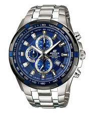 CASIO EDIFICE EF539D-2AV Tachymeter Chronograph Date Blue Dial Men's Watch