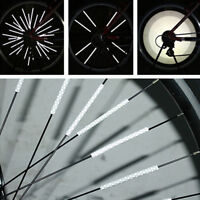 12pc Bicycle Wheel Spoke Reflector Reflective Mount Clip Tube Warning Strip