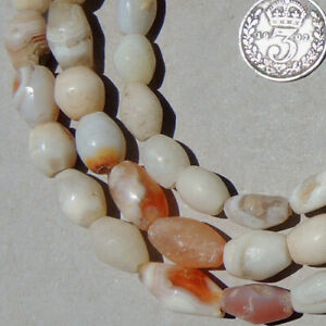 a strand of  ancient agate african stone beads mali #4148
