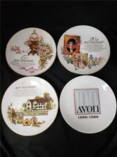 = Lot of 4 Avon Anniversary Collectible Plates With 22K Gold Trim Limited Ed