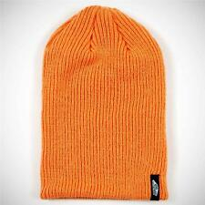 Vans Off The Wall Mismoedig Beanie Orange Cuff Hat Cap 100% Acrylic New NWT