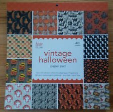 """Scrapbook Paper Pad 12"""" Vintage Halloween heavy cardstock party papercrafting"""