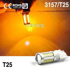 2Pcs 3157 High Power Amber Yellow LED Turn Signal Blinker Corner Light bulbs 12V