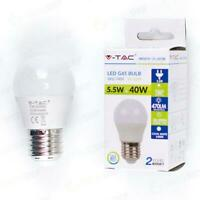LAMPADINA LED 6W E27 G45 BIANCO FREDDO 6400K - Fredda - 005382