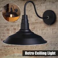 Black Gooseneck Wall Sconce Barn Warehouse Farmhouse Light Fixtures